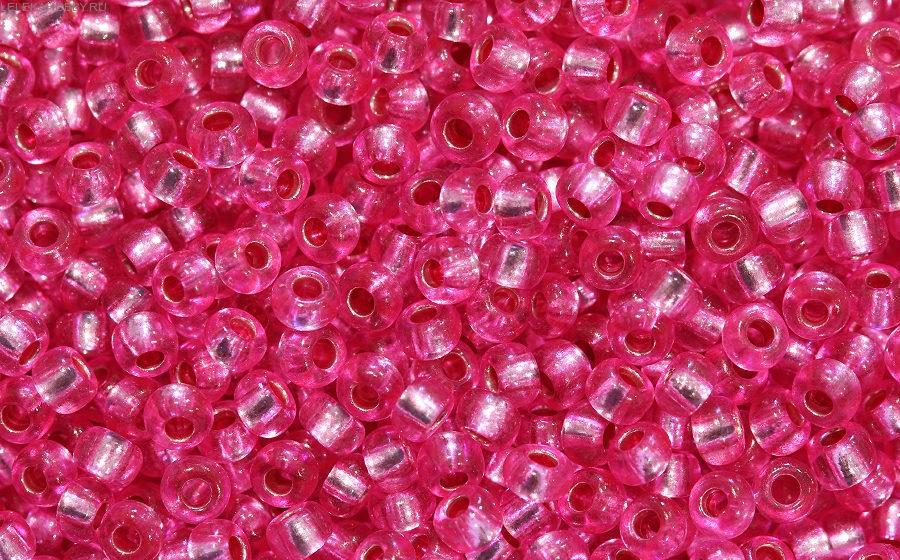Бисер в баночке темно-розовый 7гр