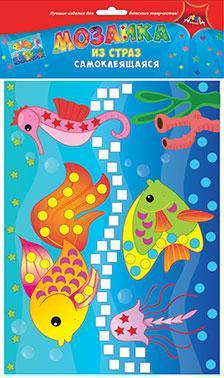 Творч Мозаика из страз самокл. Рыбки