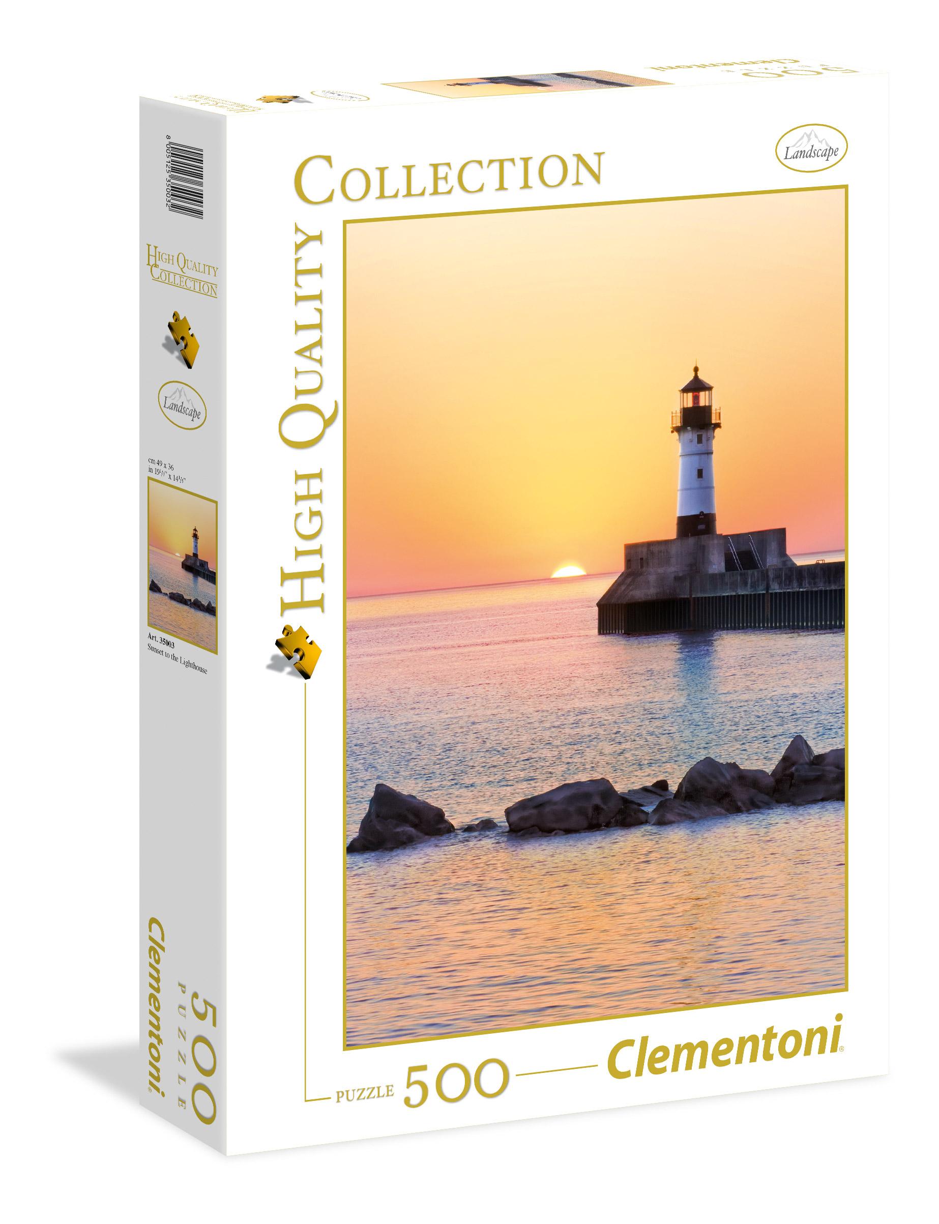 Пазл 500 Clementoni 35003 Закат на побережье с маяком