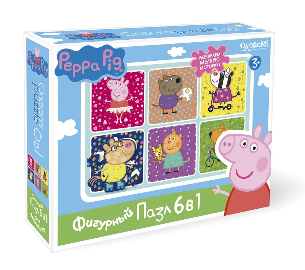 Пазл 6 в 1 Origami 01566 фигурный Peppa Pig Хобби