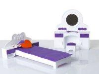Набор мебели д/кукол Спальня Конфетти