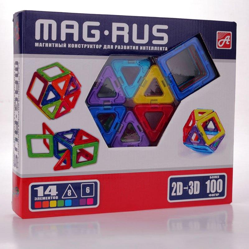 Конструктор магнитный MAG-RUS 14эл.