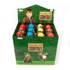 Яйцо с фигуркой Лесные животные в ассортим.
