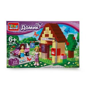 АКЦИЯ-20 Игр Конструктор Домик 117 дет. пластмас.