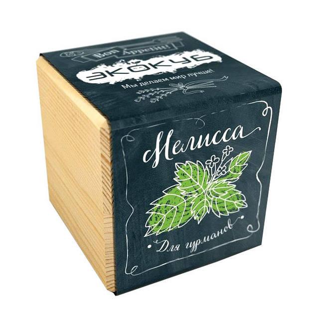 Набор для выращивания Экокуб Мелисса дерев куб