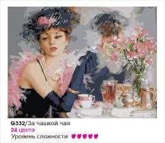 Картина по номерам 40*50 К. Разумов. За чашкой чая.