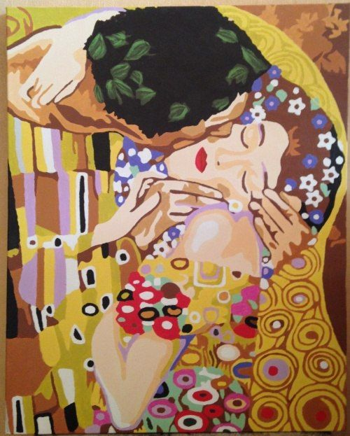 Картина по номерам 40*50 Г. Климт. Поцелуй