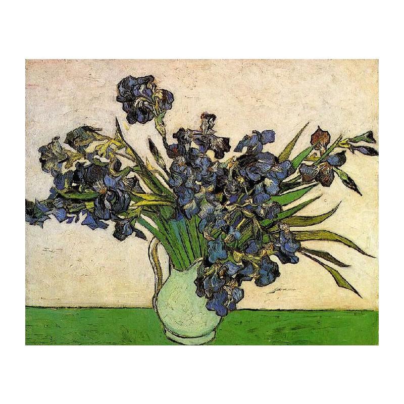 Картина по номерам 40*50 Ван Гог. Ирисы в вазе