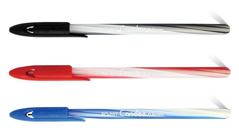 Ручка шариковая Flexoffice Candee синяя 0,6мм полупрозрачный матовый к