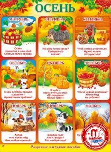 Плакат Осень А2 вертик ежик и овощи
