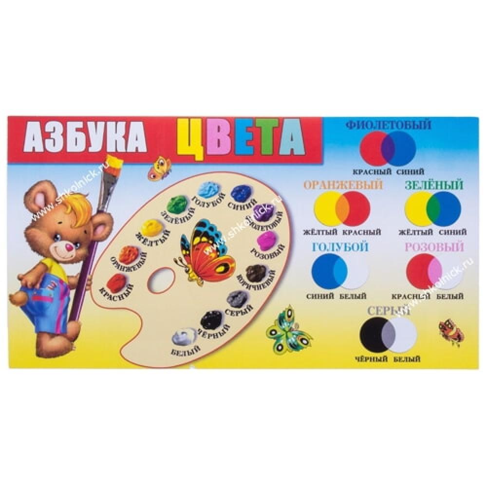 Шпаргалка-карточка Азбука цвета. Холодная, теплая цветовая гамма