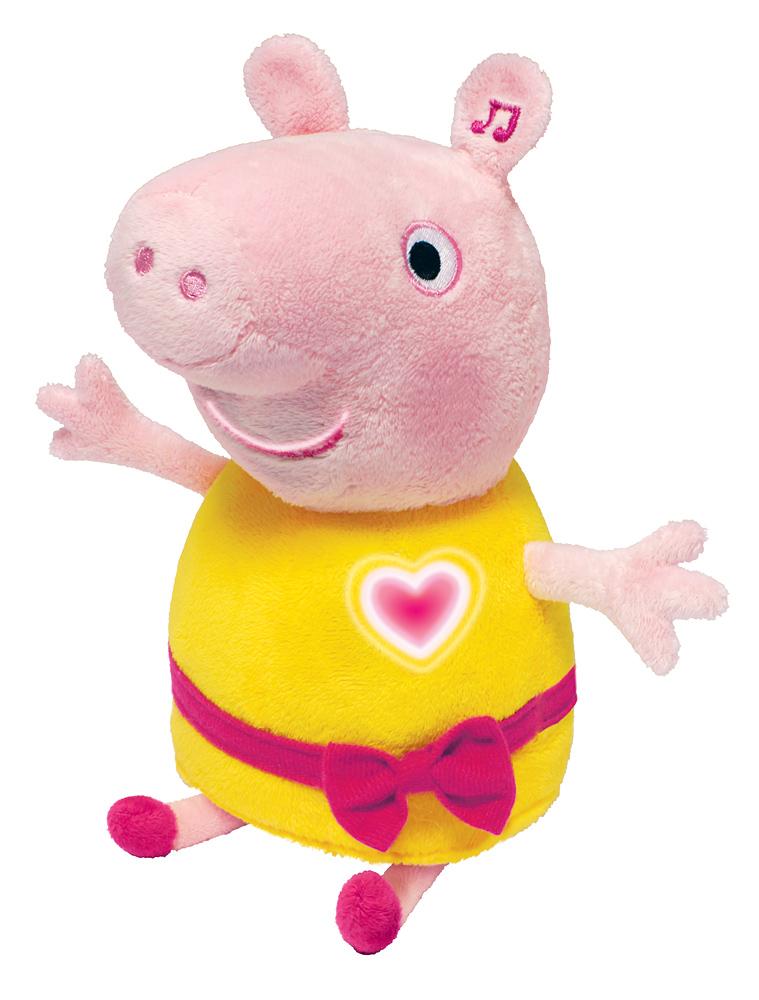 Мягконабивная Peppa Pig Пеппа речь, свет, звук 30см