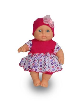 Кукла Карапуз-4 (девочка) 20см в платьице пластм