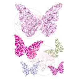Штамп силикон А7 Бабочки
