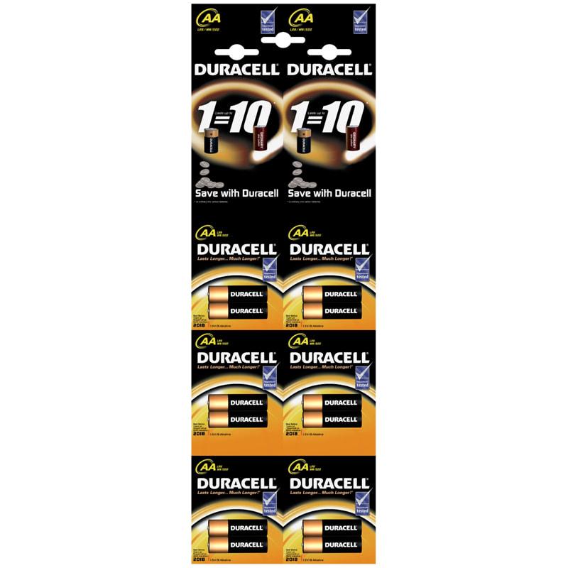 Батарейка AA пальчик Duracell Basic 1.5V алкалиновая (1 ШТУКА)