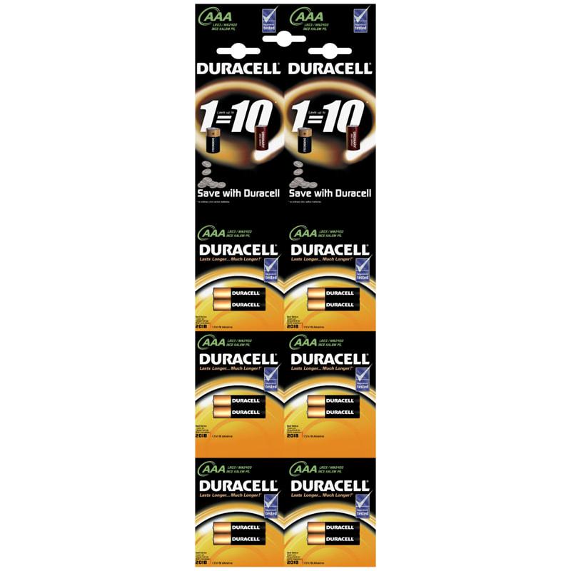 Батарейка AAA мизинч Duracell Basic 1.5V алкалиновая (1 ШТУКА)