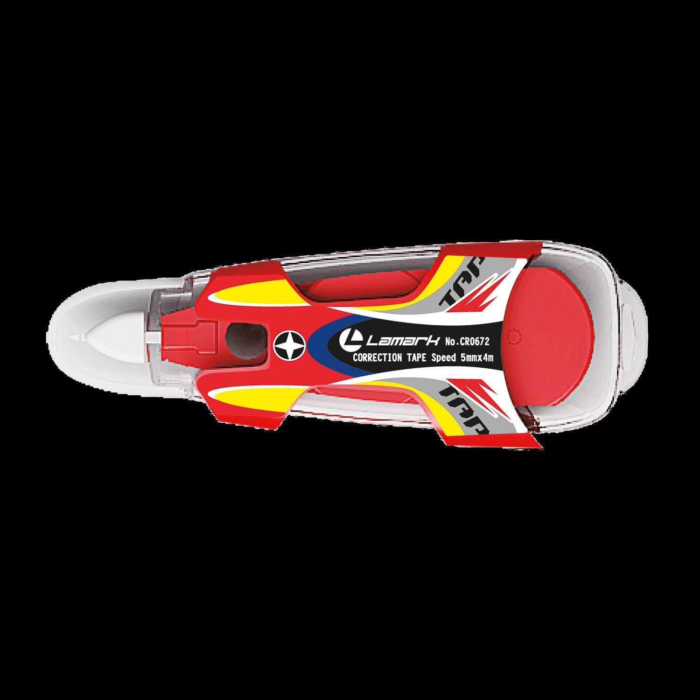 Штрих-лента Lamark 5мм*4м Speed красный корпус