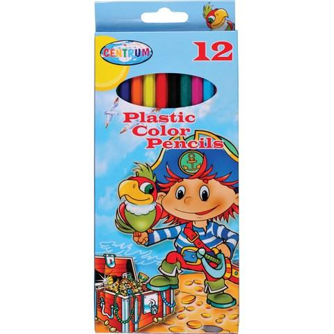 Карандаши цветные 12 цв Centrum Пират пластиковые