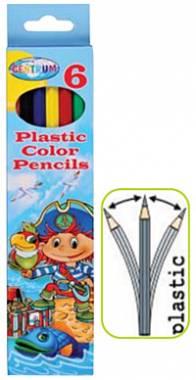 Карандаши цветные 6 цв Centrum Пират пластиковые