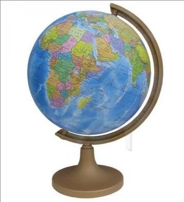 Глобус d-32 политический М 1:40 000 000 + мини-энциклопедия Страны Мир