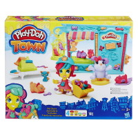 "Творч Play-Doh Город ""Магазинчик домашних питомцев"" + пластилин 4шт. 168гр."