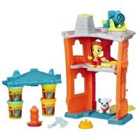 """Творч Play-Doh Город """"Пожарная станция"""" + пластилин 4шт. 224гр."""