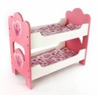 Кроватка для куклы двухспальная Корона 53*25*45см.