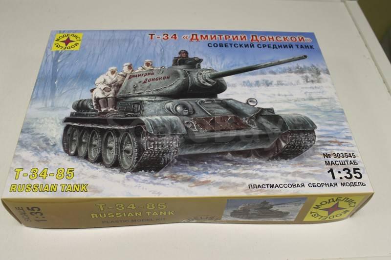Сборная модель Танк Т-34 Дмитрий Донской 1/35