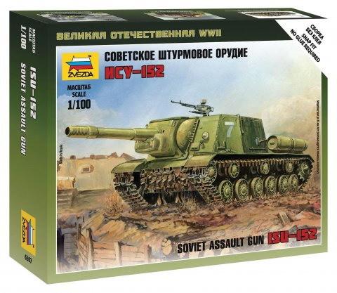 Сборная модель Советский танк ИСУ-152 1/100