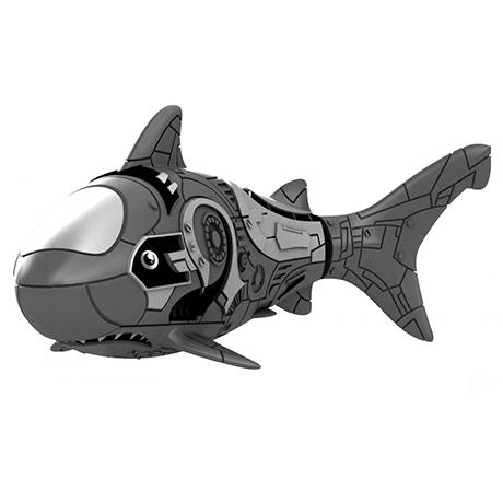 Роборыба Акула пластмас. на батар. голубая