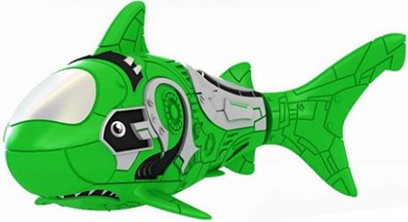 Роборыба Акула пластмас. на батар. зеленая