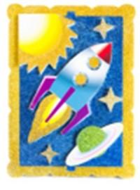 Творч Аппликация из ЭВА Космическое путешествие