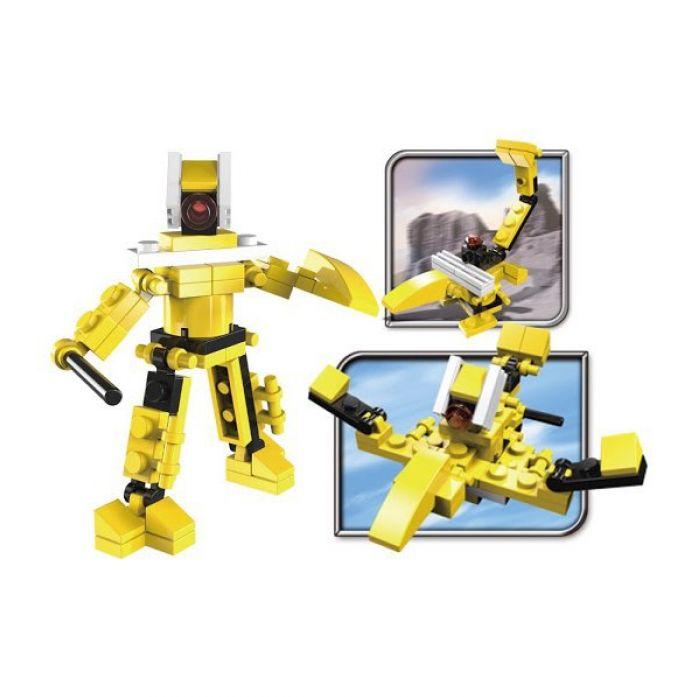Конструктор SuperBlock Робот-Трансформер желтый S 3-в-1 39 дет.