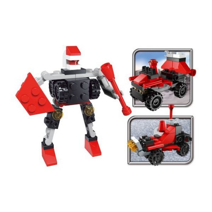 Конструктор SuperBlock Робот-Трансформер красный S