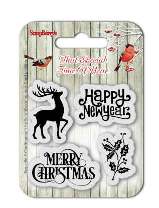 Штамп силикон НГ 7*7 С Рождеством!-2 англ