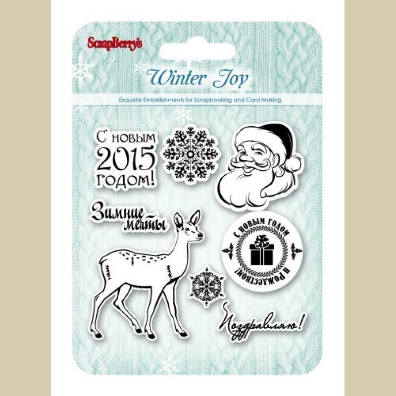Штамп силикон 10*5*10,5 Зимнее утро Рождественский олень