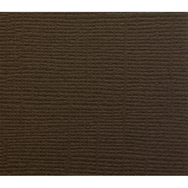 Бумага д/скрап Кардсток 30,5*30,5 Горький шоколад текстурированная
