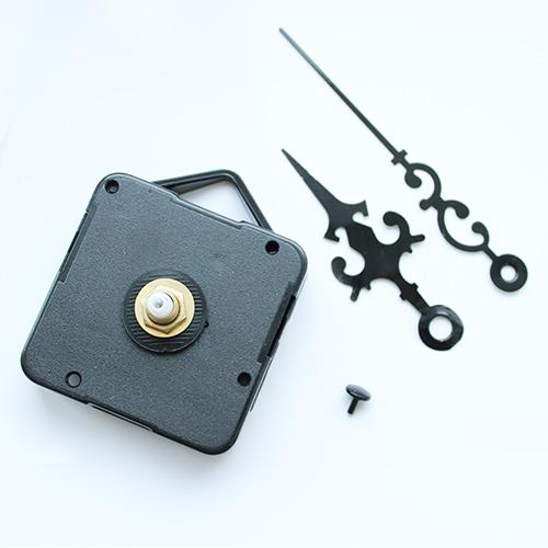 Заготовка Часовой механизм 16/9мм со стрелками 67/87 секундная-черная