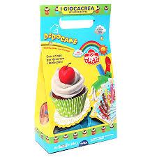 набор д/лепки Dido Cake паста 6*50гр, 3 стека + вспомогат материал