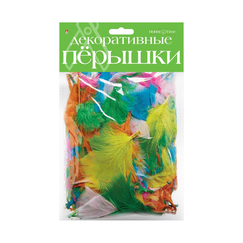 Перья декоративные Яркий Микс
