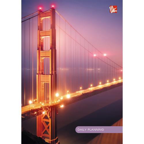Ежедневник А6 Ежедневник Городской стиль. Ночной мост недат