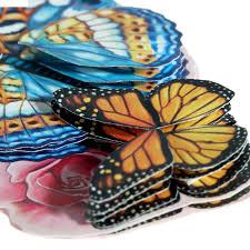 Декор объемный Бабочки 14,8 х 21см