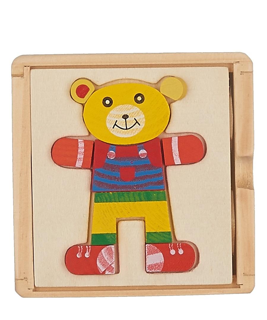 деревянная Сортер Куб Мишка
