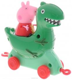 Каталка Динозавр с фигуркой