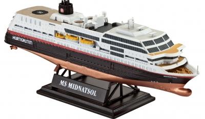 АКЦИЯ19 Игр Сборная модель Круизный лайнер Midnatsol 1:1200