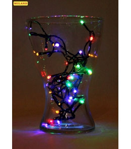 НГ Гирлянда электрическая 50 ламп разноцветных 8 режимов 3.5м