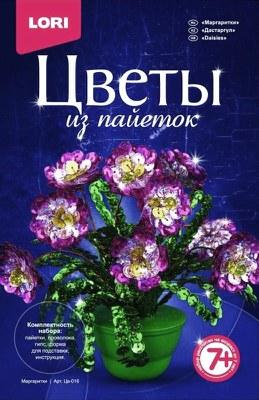 Творч Цветы из пайеток Маргаритки