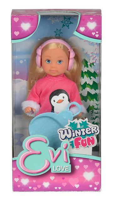 Кукла Еви в зимнем костюме 12см.