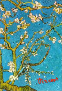 Обложка для паспорта Ван Гог. Цветущие ветки миндаля