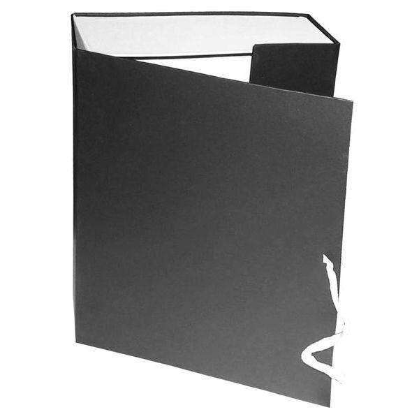 Короб архивный 240*75*305 мм на завязках черный